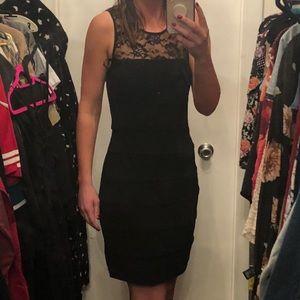 Knee length black cocktail dresss